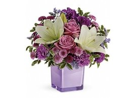 Teleflora's Pleasing Purple Bouquet, La Grace des Fleurs