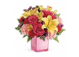 Teleflora's Pop Of Fun Bouquet, La Grace des Fleurs