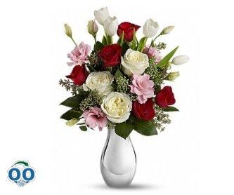 Bouquet Amour Pour Toujours Avec Roses Rouges De Teleflora