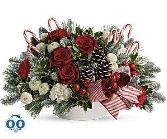 Bouquet Canne De Bonbon Joyeuse