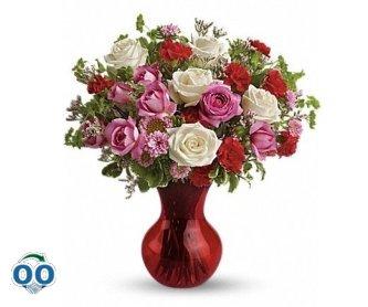 Bouquet Rouge Splendide Avec Des Roses De Teleflora