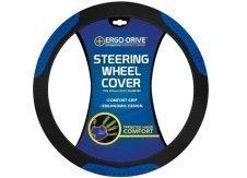 Who-Rae Ergodrive Hexneo Steering Wheel Cover, Black Blue