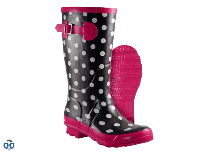 Outbound Women S Polka Dot Rubber Boot 12 In Canadian