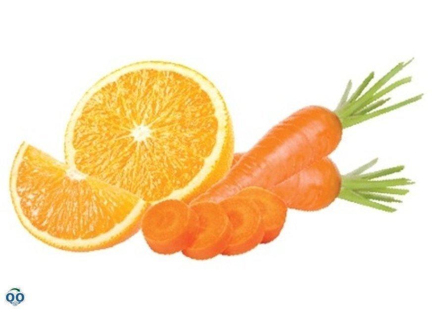Carrot orange boost sorbet, Menchie's Frozen Yogurt