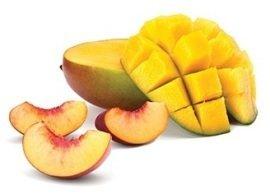 The art of peach mango tart, Menchie's Frozen Yogurt