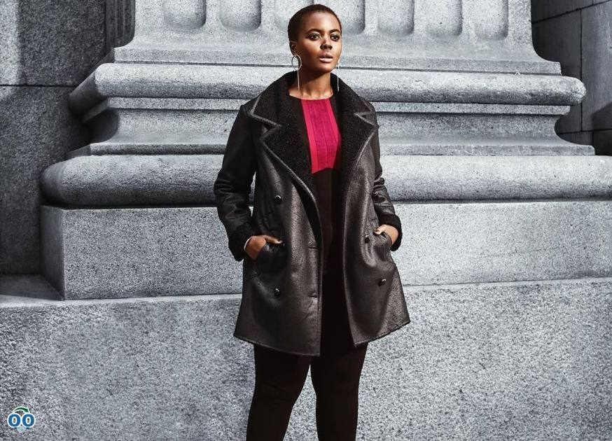Say hello to Fall with this chic shearling coat
