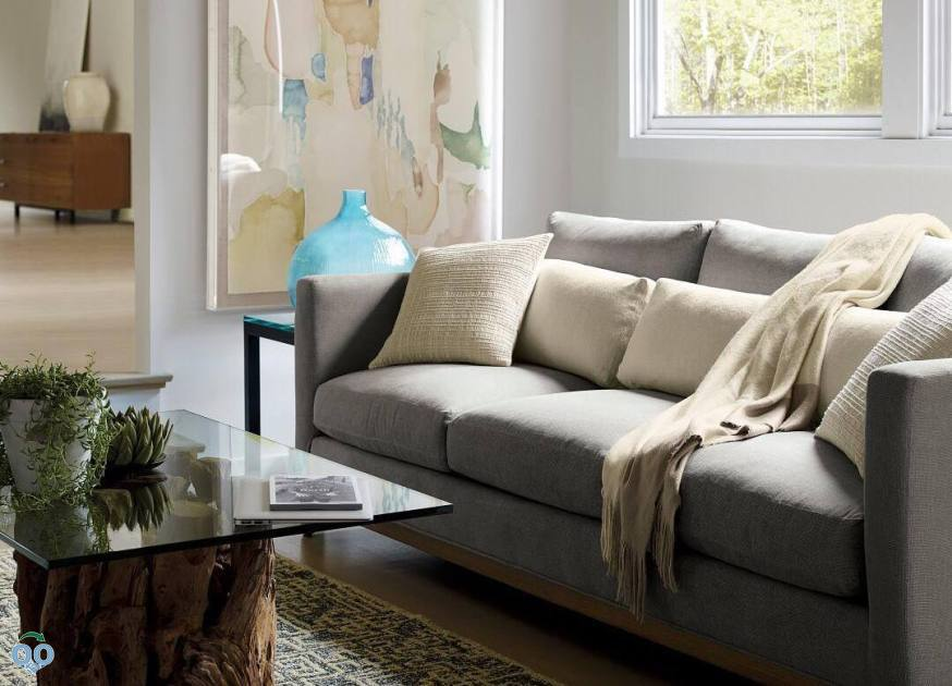 Curl up in a space that's equal parts kick-back comfort and modern style