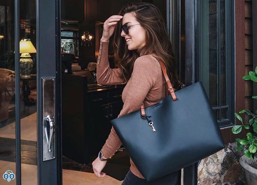 Nichole ciotti travels in style with our customizable rachel tote