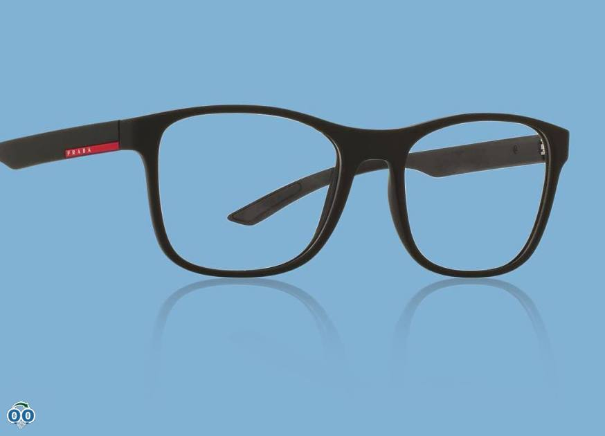 These sporty prada linea rossa glasses are the perfect blend