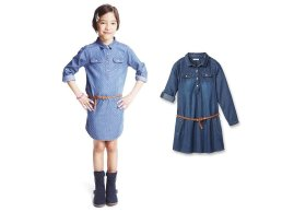 A denim dress for a chic and practical look!