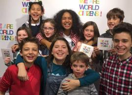 The group 'we are world citizens' to meet the children...