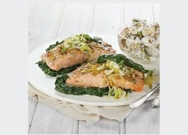 Leek-Dill Salmon en papillote with Creamy Dill Potatoes
